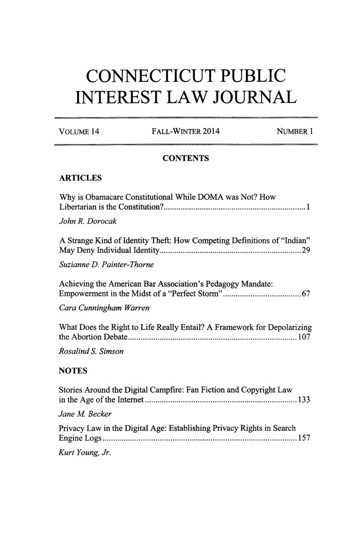 handle is hein.journals/cpilj14 and id is 1 raw text is: 