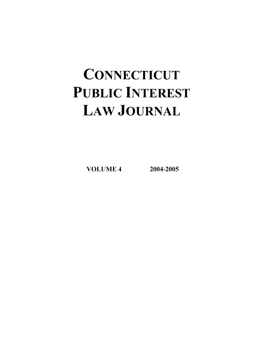 handle is hein.journals/cpilj4 and id is 1 raw text is: CONNECTICUT