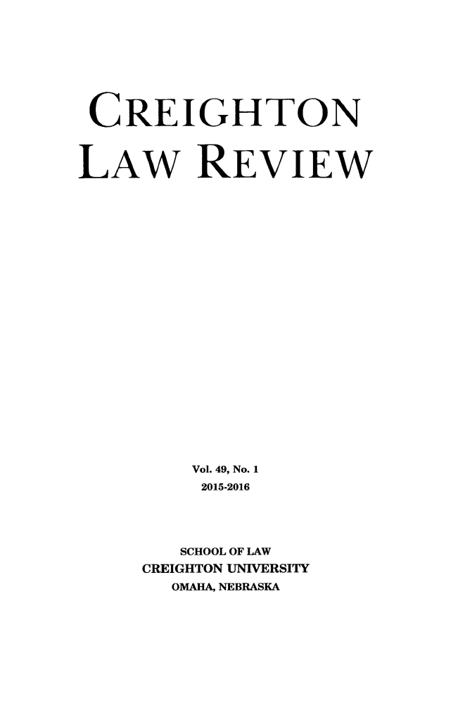 handle is hein.journals/creigh49 and id is 1 raw text is: 