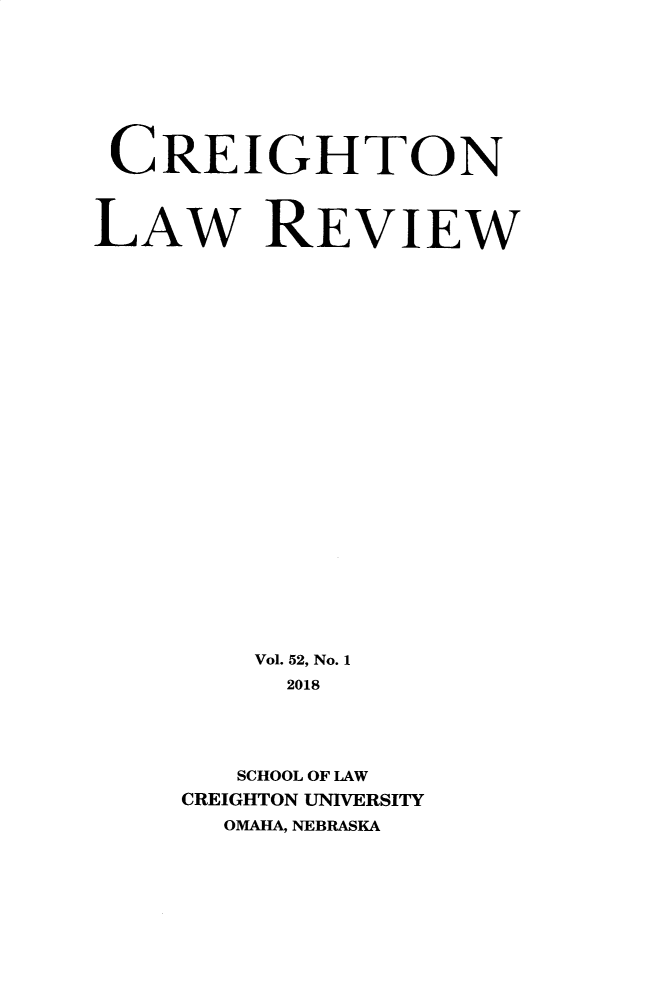 handle is hein.journals/creigh52 and id is 1 raw text is: 