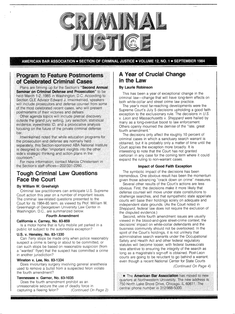 handle is hein.journals/crijust12 and id is 1 raw text is: 