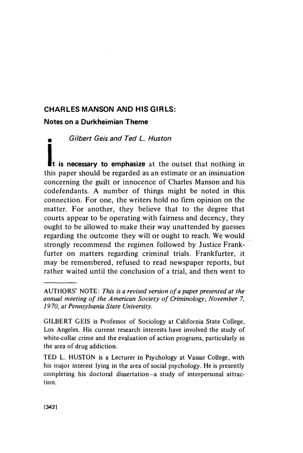 charles manson research paper