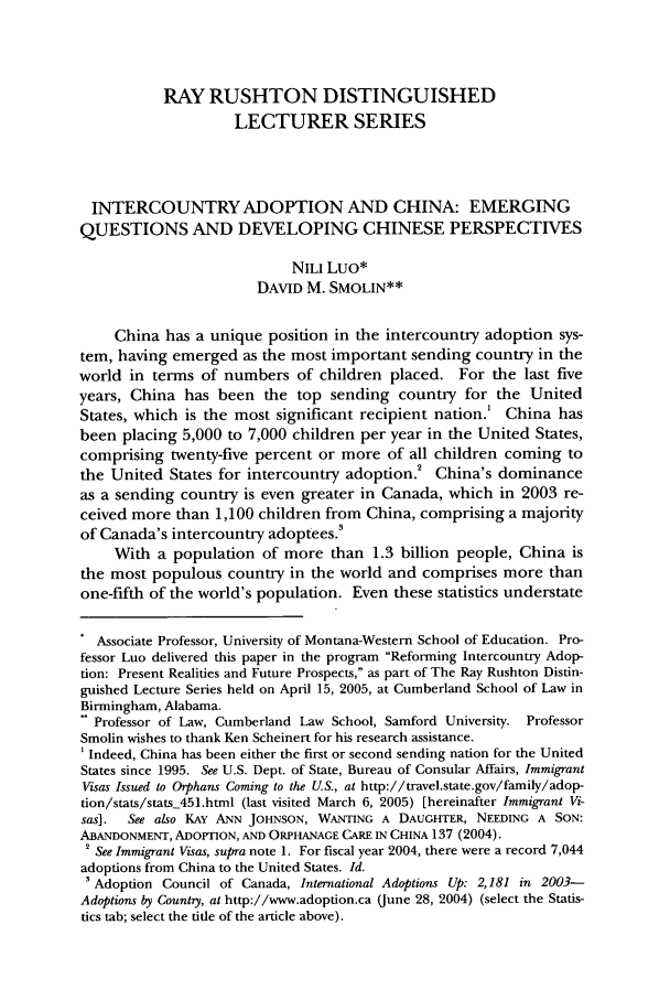 handle is hein.journals/cumlr35 and id is 605 raw text is: RAY RUSHTON DISTINGUISHED
