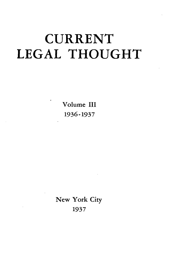 handle is hein.journals/curletho3 and id is 1 raw text is: CURRENT
