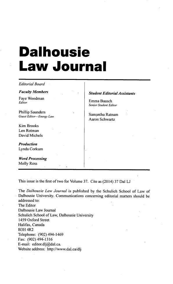handle is hein.journals/dalholwj37 and id is 1 raw text is: 