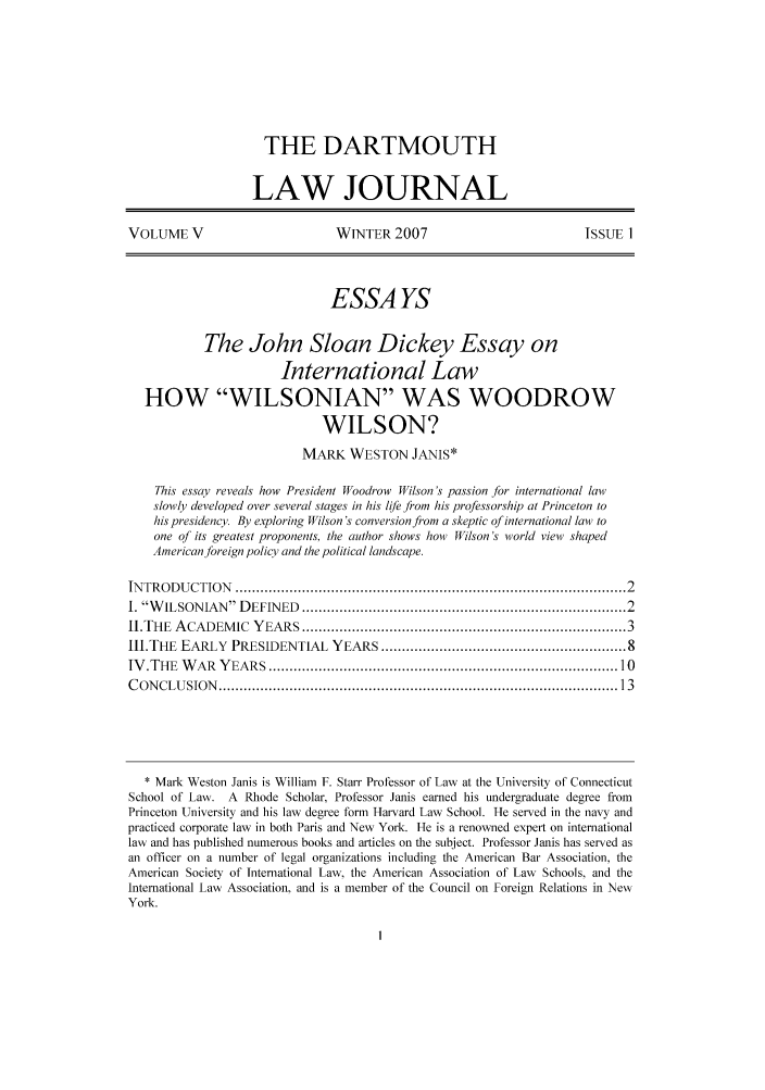 handle is hein.journals/dcujl5 and id is 1 raw text is: THE DARTMOUTH
