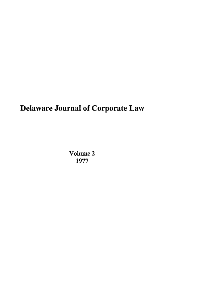 handle is hein.journals/decor2 and id is 1 raw text is: Delaware Journal of Corporate Law