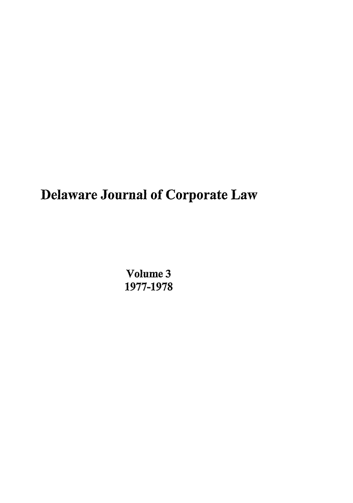 handle is hein.journals/decor3 and id is 1 raw text is: Delaware Journal of Corporate Law