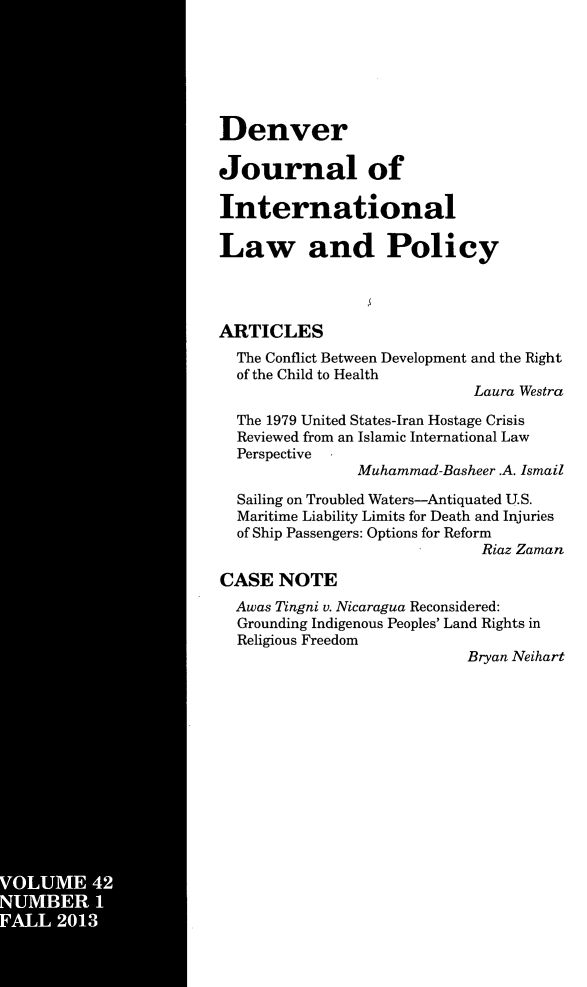 handle is hein.journals/denilp42 and id is 1 raw text is: VOUM   42
