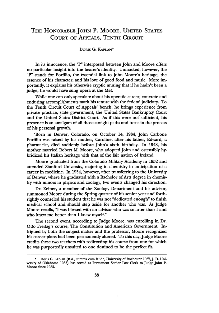 handle is hein.journals/denlr71 and id is 47 raw text is: TnE HONORABLE JOHN P. MOORE, UNITED STATES