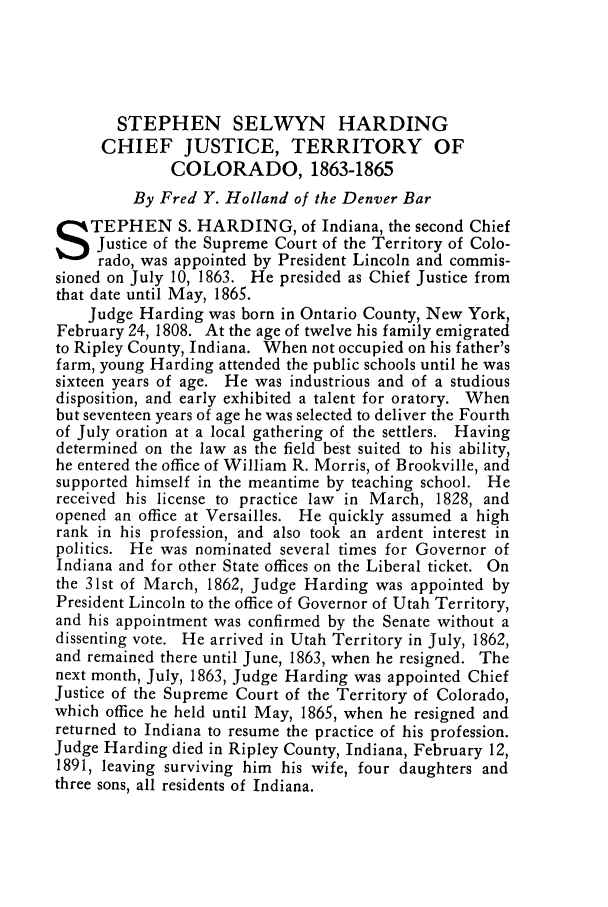 handle is hein.journals/denlr9 and id is 137 raw text is: STEPHEN SELWYN HARDING