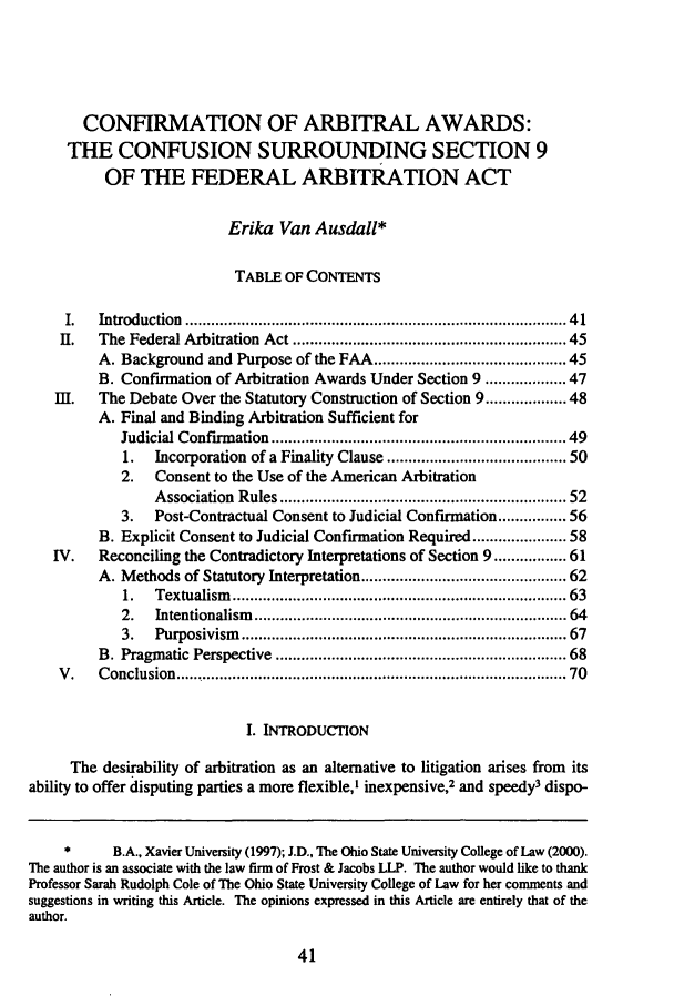 Confirmation of Arbitral Awards: The Confusion Surrounding ...