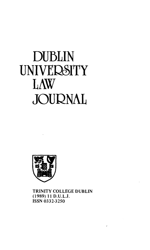 handle is hein.journals/dubulj11 and id is 1 raw text is: 