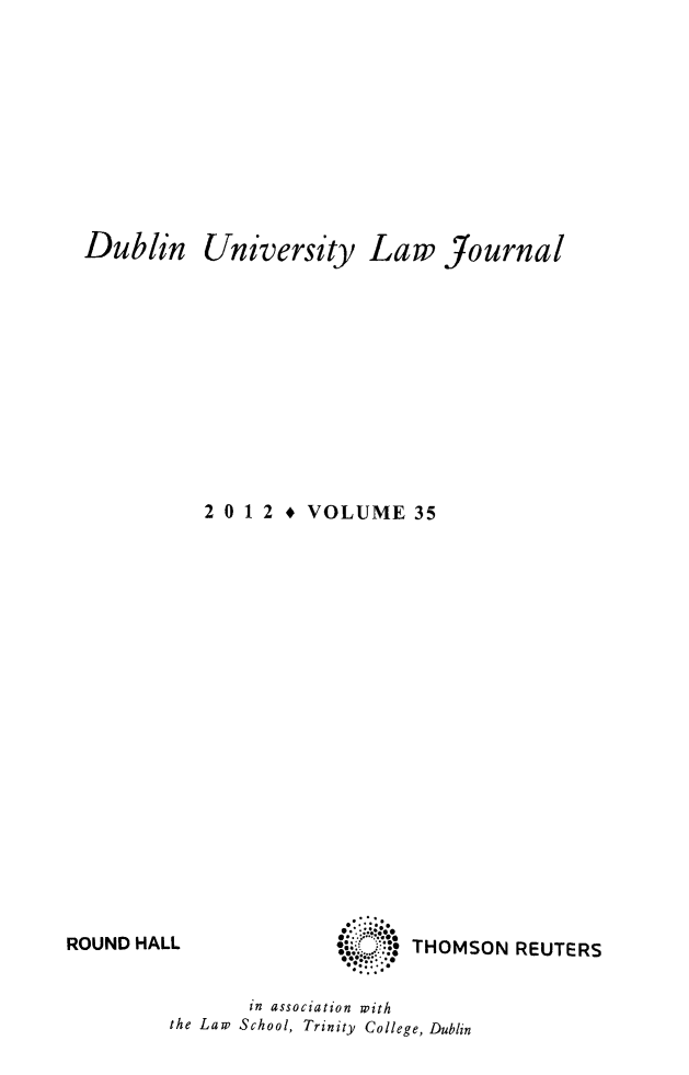 handle is hein.journals/dubulj35 and id is 1 raw text is: Dublin