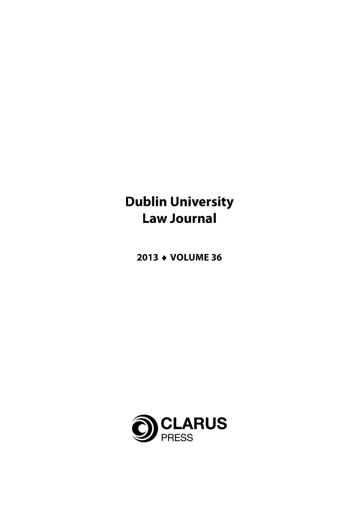 handle is hein.journals/dubulj36 and id is 1 raw text is: Dublin University