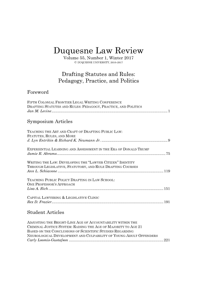 handle is hein.journals/duqu55 and id is 1 raw text is: 