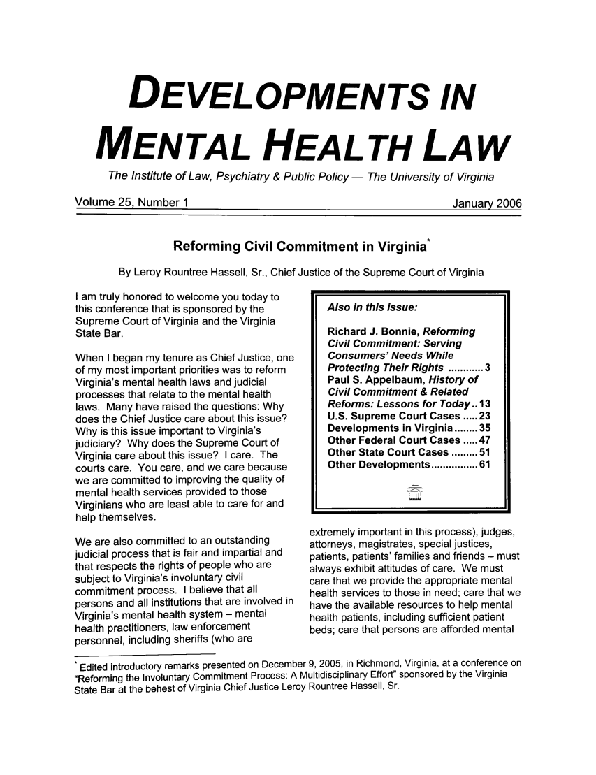 handle is hein.journals/dvmnhlt25 and id is 1 raw text is: DEVELOPMENTS IN