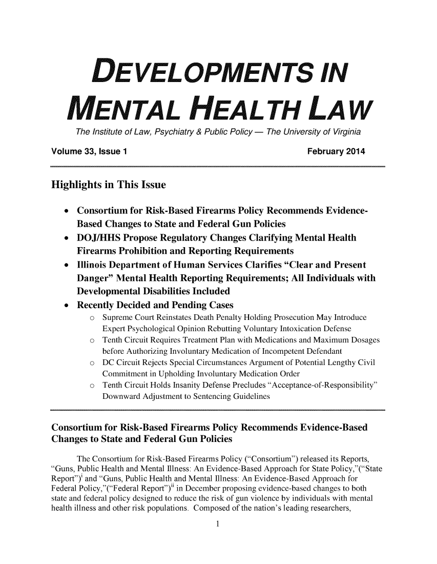 handle is hein.journals/dvmnhlt33 and id is 1 raw text is: DEVELOPMENTS IN