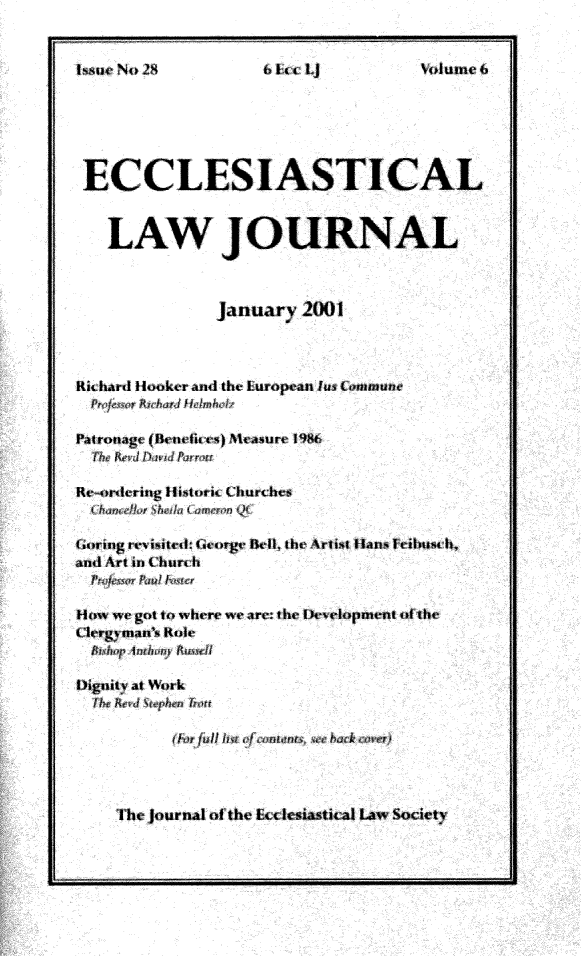 handle is hein.journals/ecclej6 and id is 1 raw text is: 
