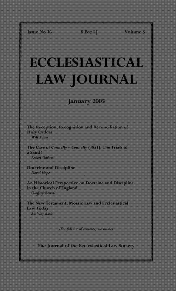 handle is hein.journals/ecclej8 and id is 1 raw text is: 