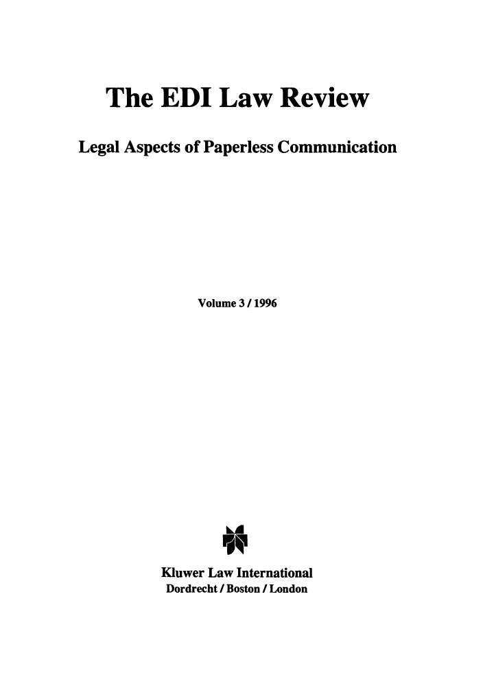 handle is hein.journals/electilr3 and id is 1 raw text is: The EDI Law Review