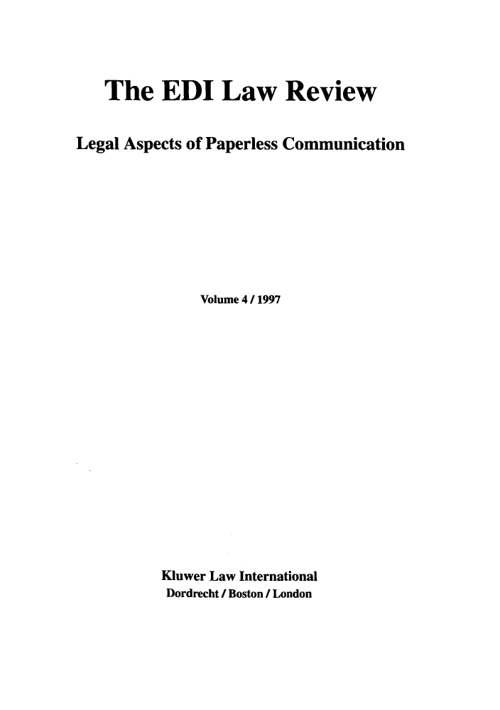 handle is hein.journals/electilr4 and id is 1 raw text is: The EDI Law Review