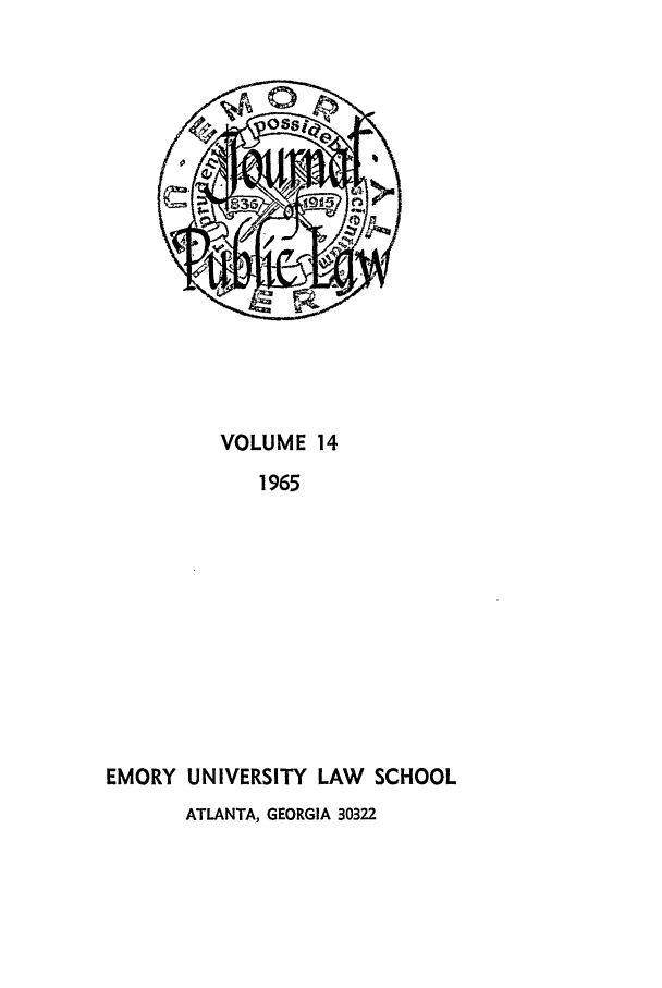 handle is hein.journals/emlj14 and id is 1 raw text is: VOLUME 14