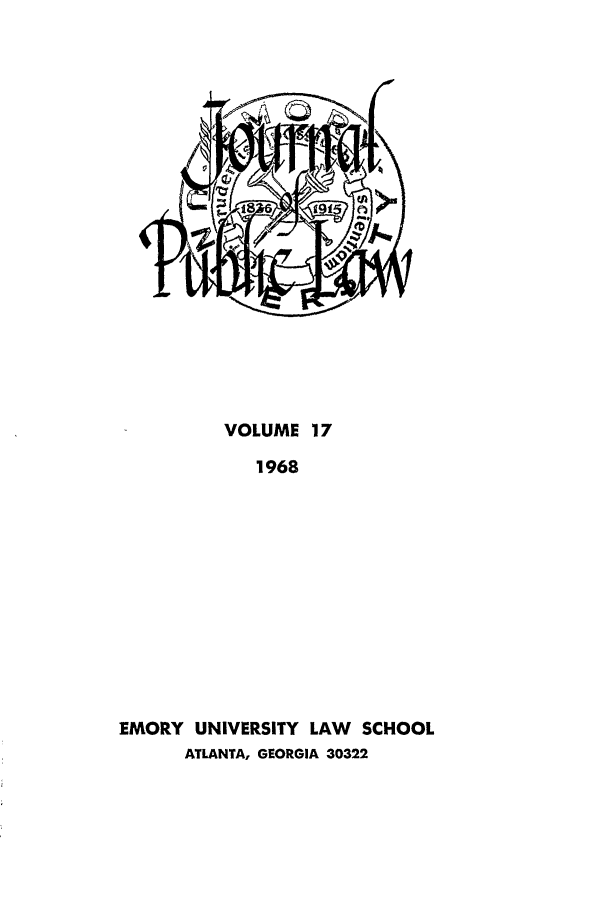 handle is hein.journals/emlj17 and id is 1 raw text is: VOLUME 17