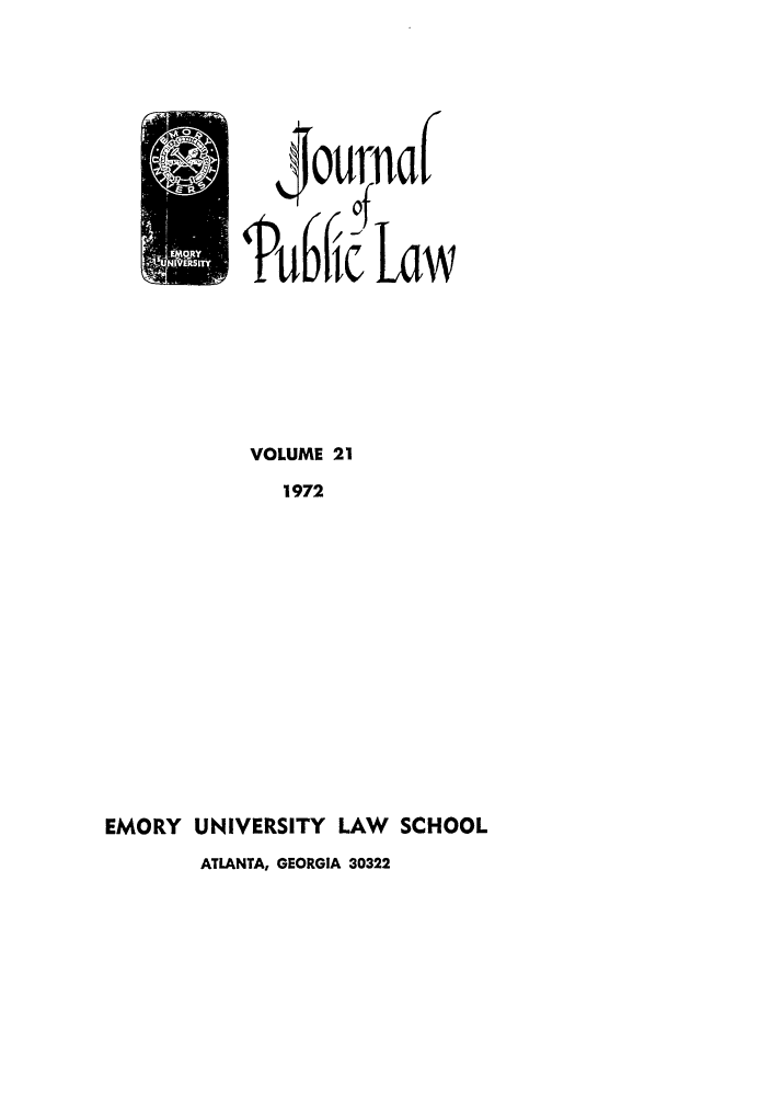 handle is hein.journals/emlj21 and id is 1 raw text is: Pub