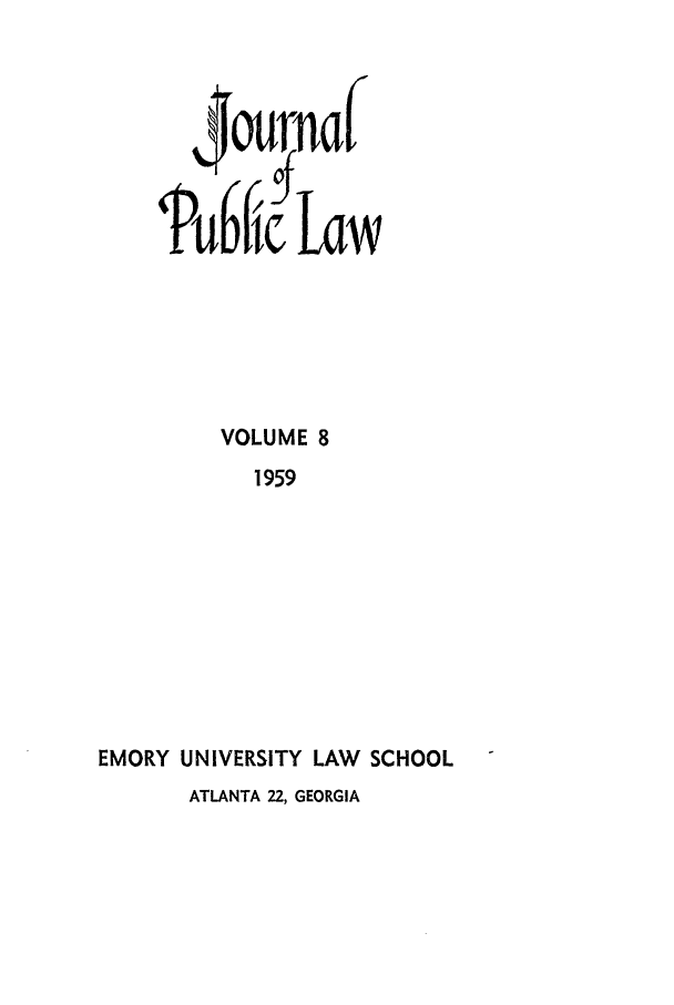 handle is hein.journals/emlj8 and id is 1 raw text is: VOLUME 8