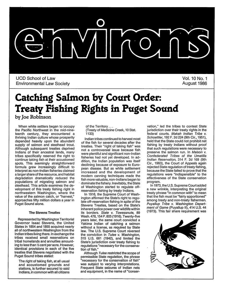 handle is hein.journals/environs10 and id is 1 raw text is: UCD School of Law