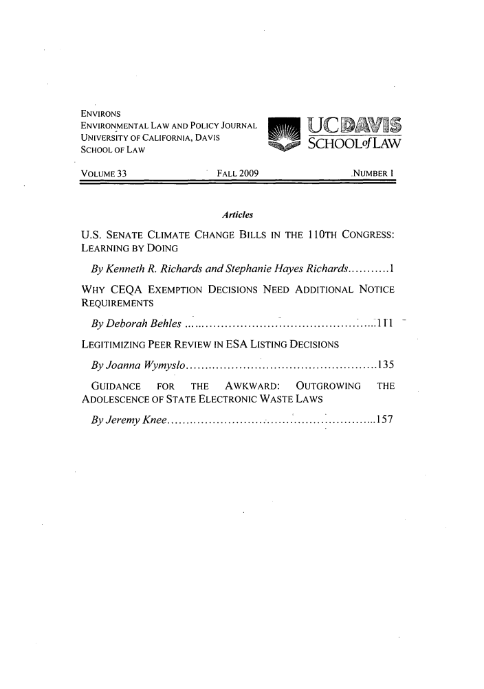 handle is hein.journals/environs33 and id is 1 raw text is: ENVIRONS