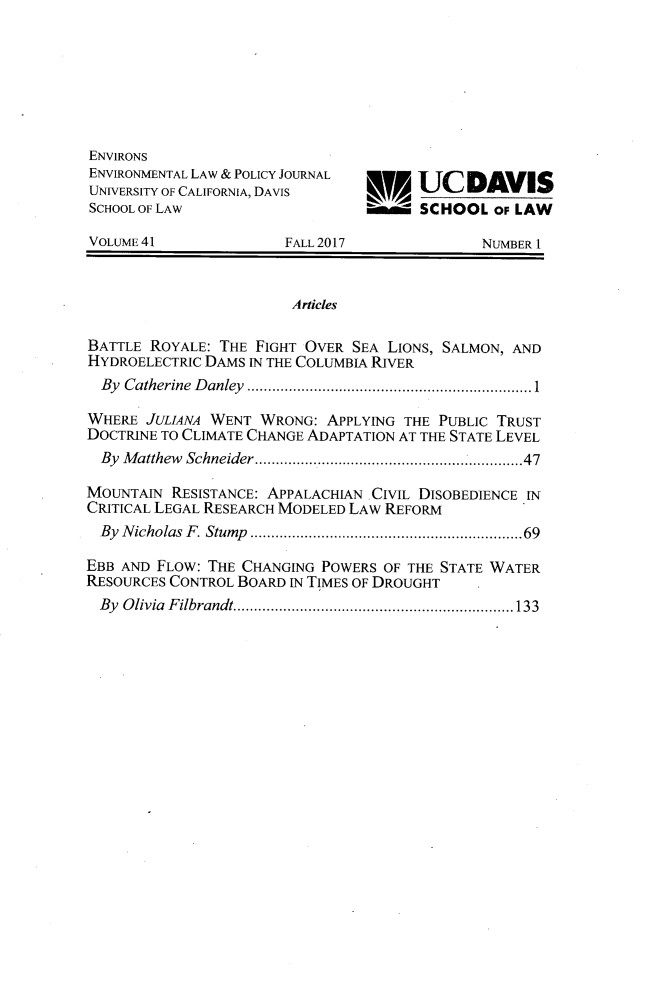 handle is hein.journals/environs41 and id is 1 raw text is: 