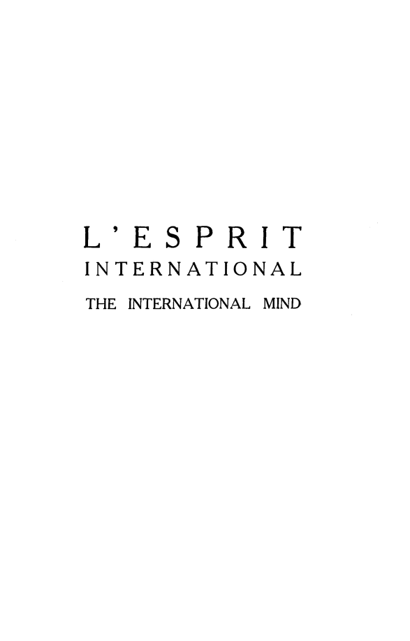 handle is hein.journals/esprit5 and id is 1 raw text is: L' ES PRIT