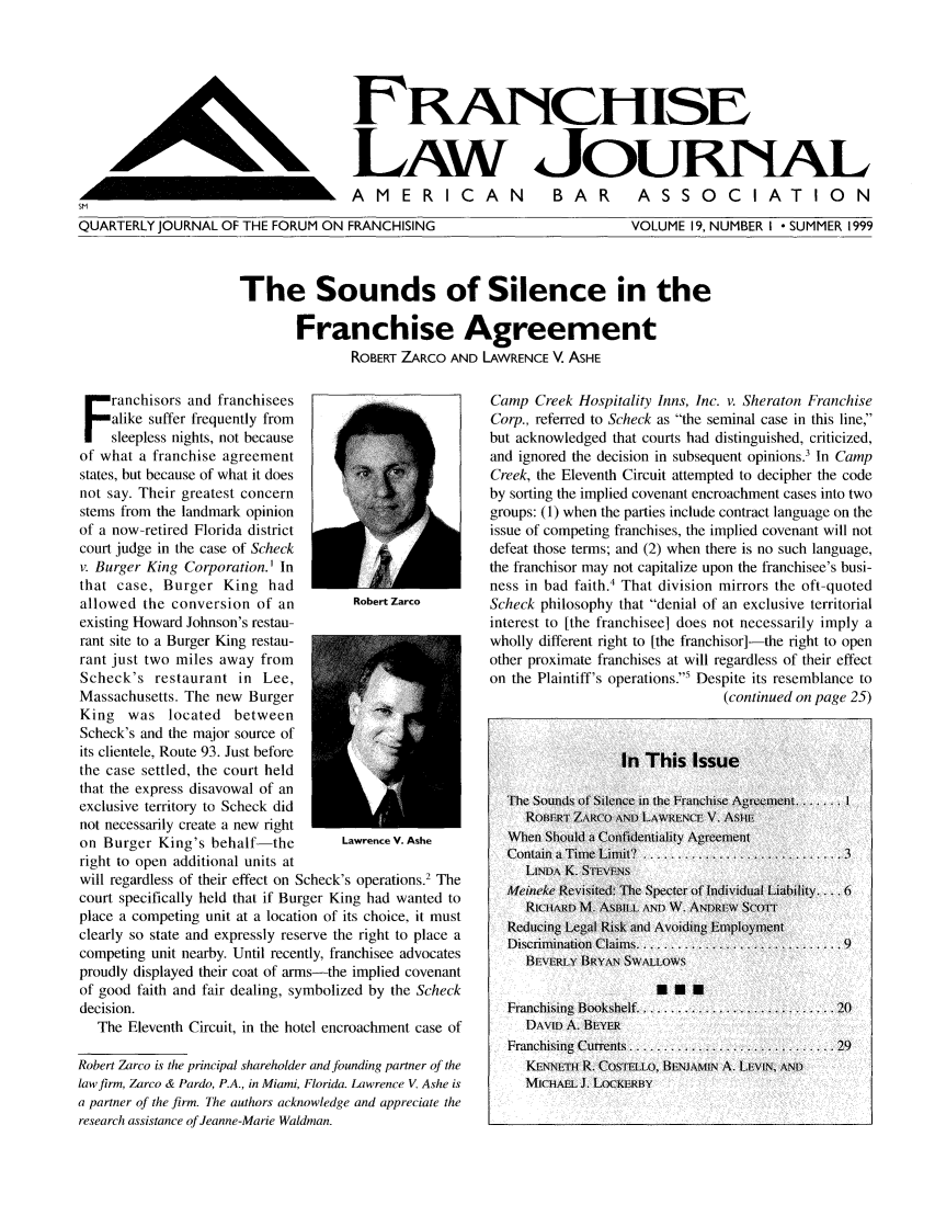 handle is hein.journals/fchlj19 and id is 1 raw text is: FRANCHISE