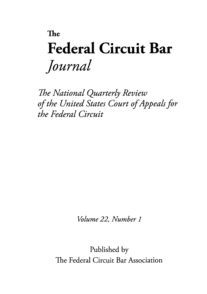 handle is hein.journals/fedcb22 and id is 1 raw text is: The