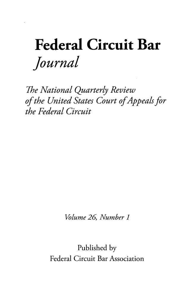 handle is hein.journals/fedcb26 and id is 1 raw text is: 