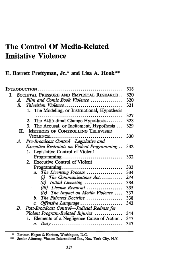 handle is hein.journals/fedcom38 and id is 325 raw text is: The Control Of Media-Related