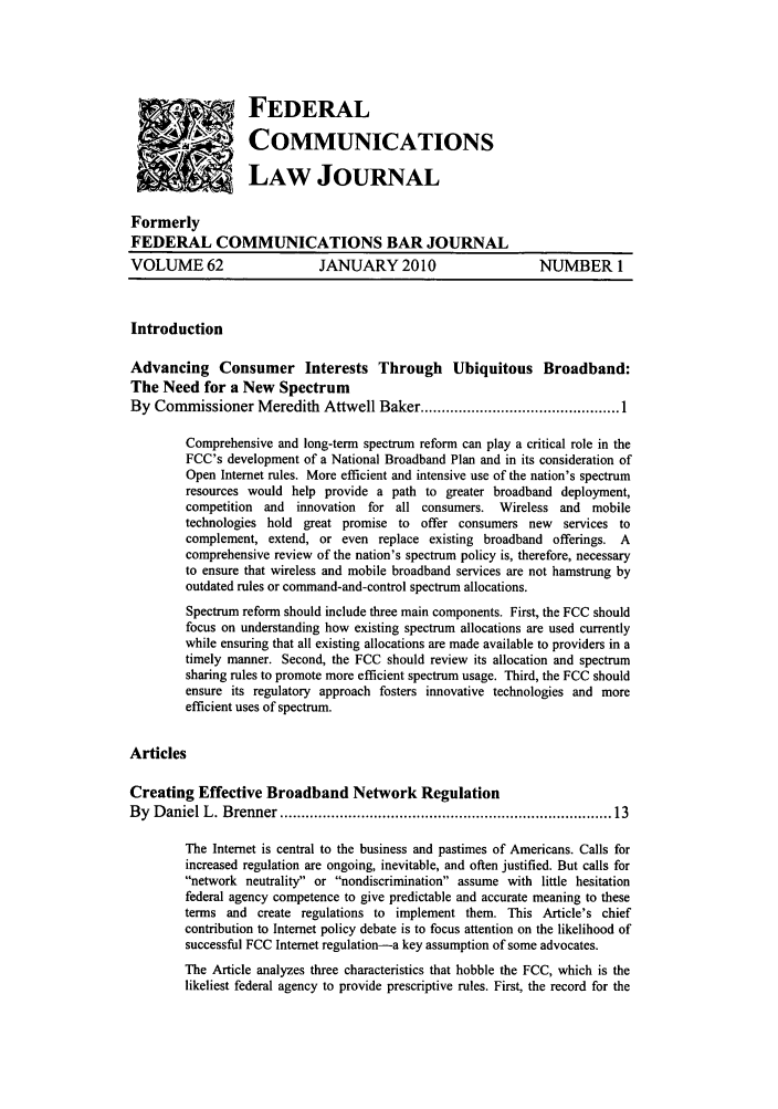 handle is hein.journals/fedcom62 and id is 1 raw text is: 'FEDERAL