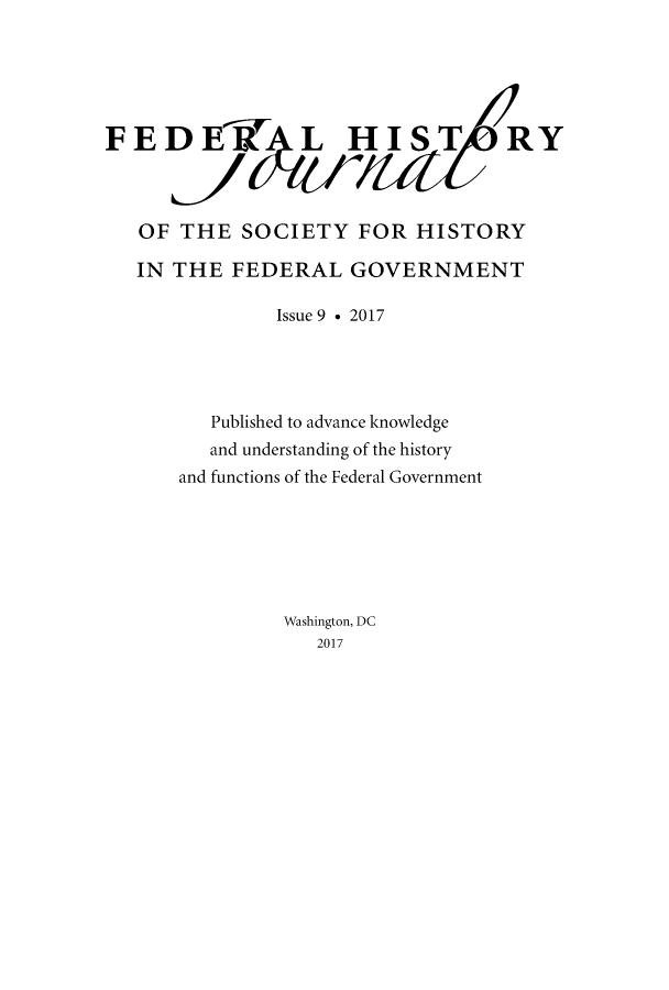 handle is hein.journals/fedhijrl9 and id is 1 raw text is: 
