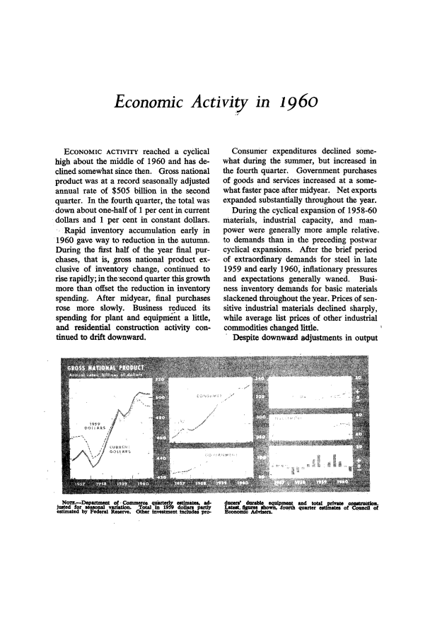 handle is hein.journals/fedred47 and id is 1 raw text is: Economic Activity in 1960