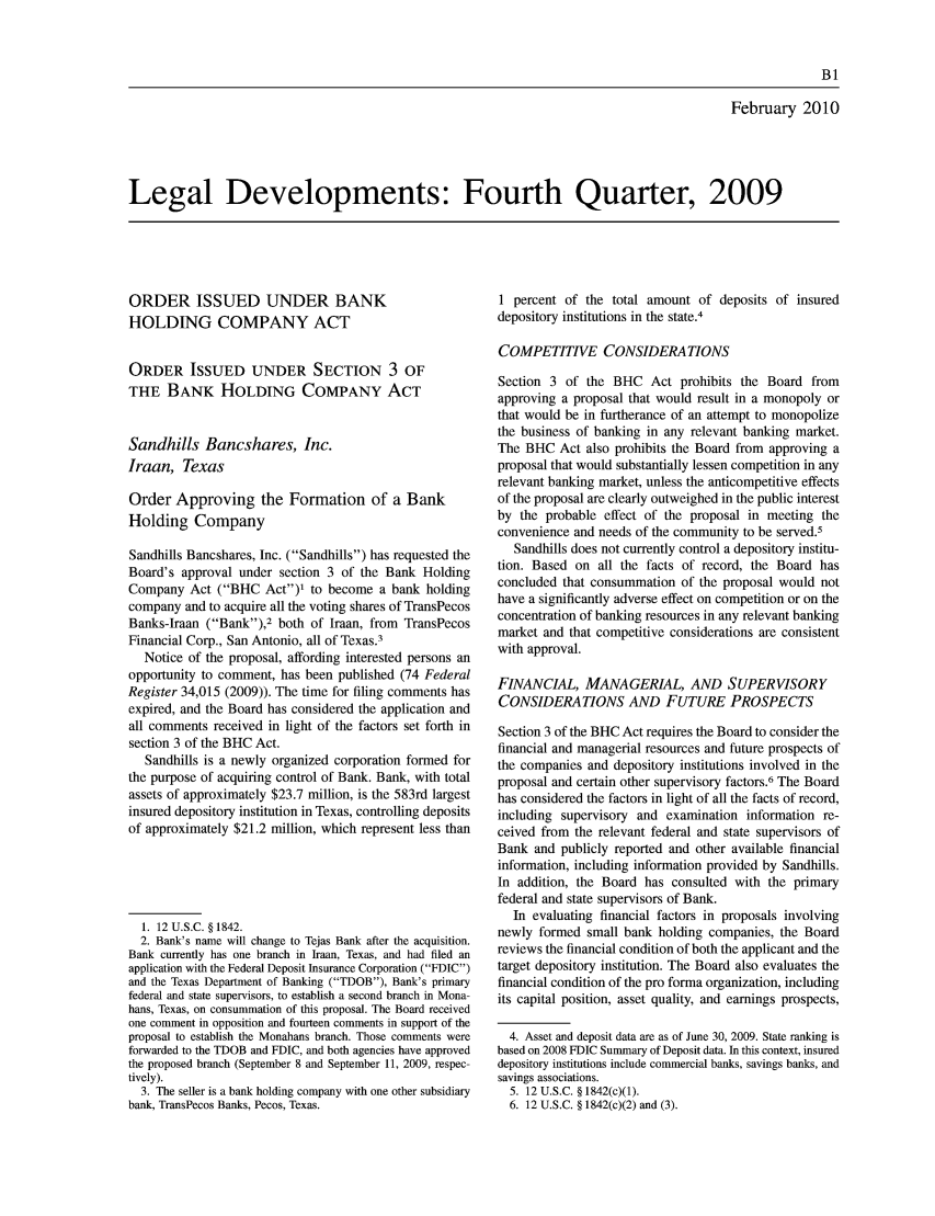 handle is hein.journals/fedred96 and id is 1 raw text is: February 2010