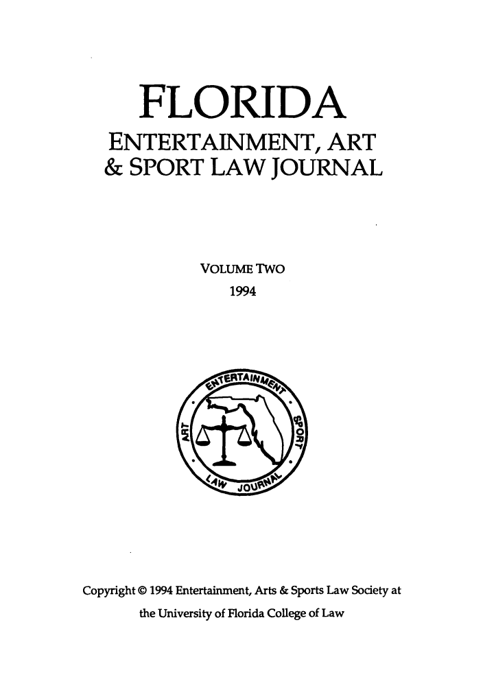 handle is hein.journals/fleaslj2 and id is 1 raw text is: FLORIDA