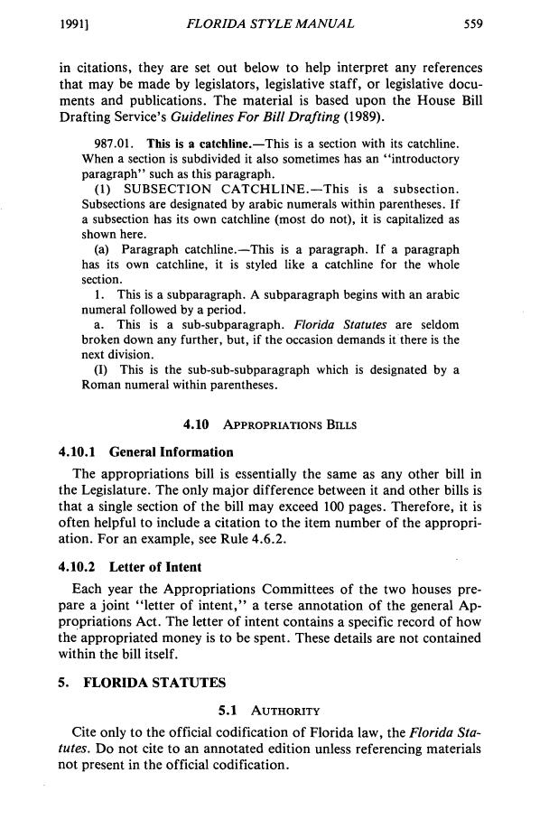 Florida Statutes Florida Style Manual 19 Florida State