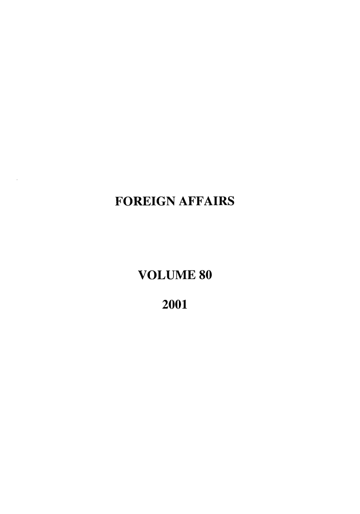 handle is hein.journals/fora80 and id is 1 raw text is: FOREIGN AFFAIRS