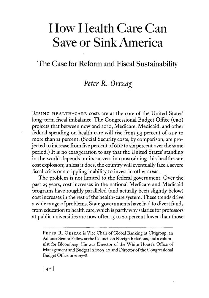 Pro health care reform essay