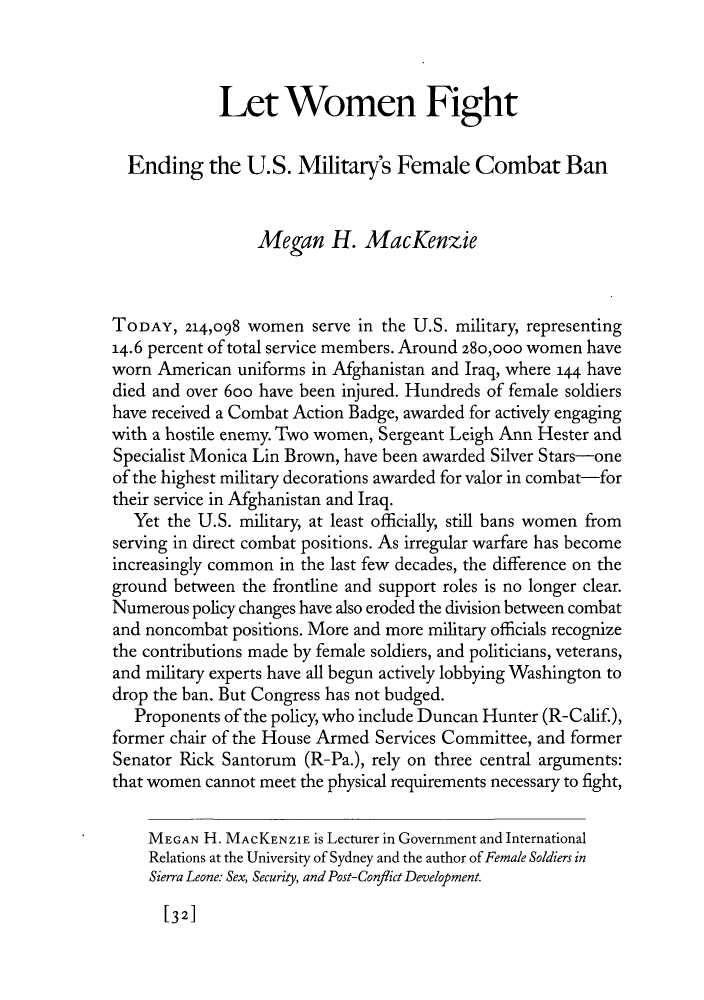 let women fight ending the u s military s female combat ban  what is