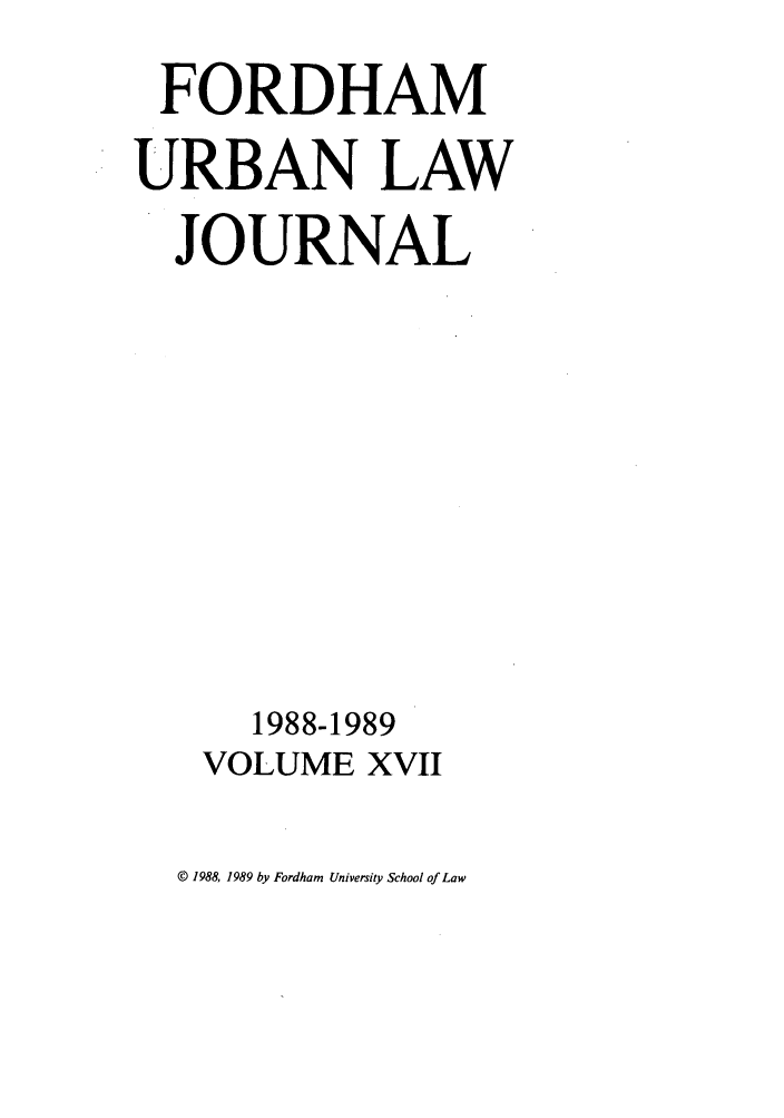 handle is hein.journals/frdurb17 and id is 1 raw text is: FORDHAM