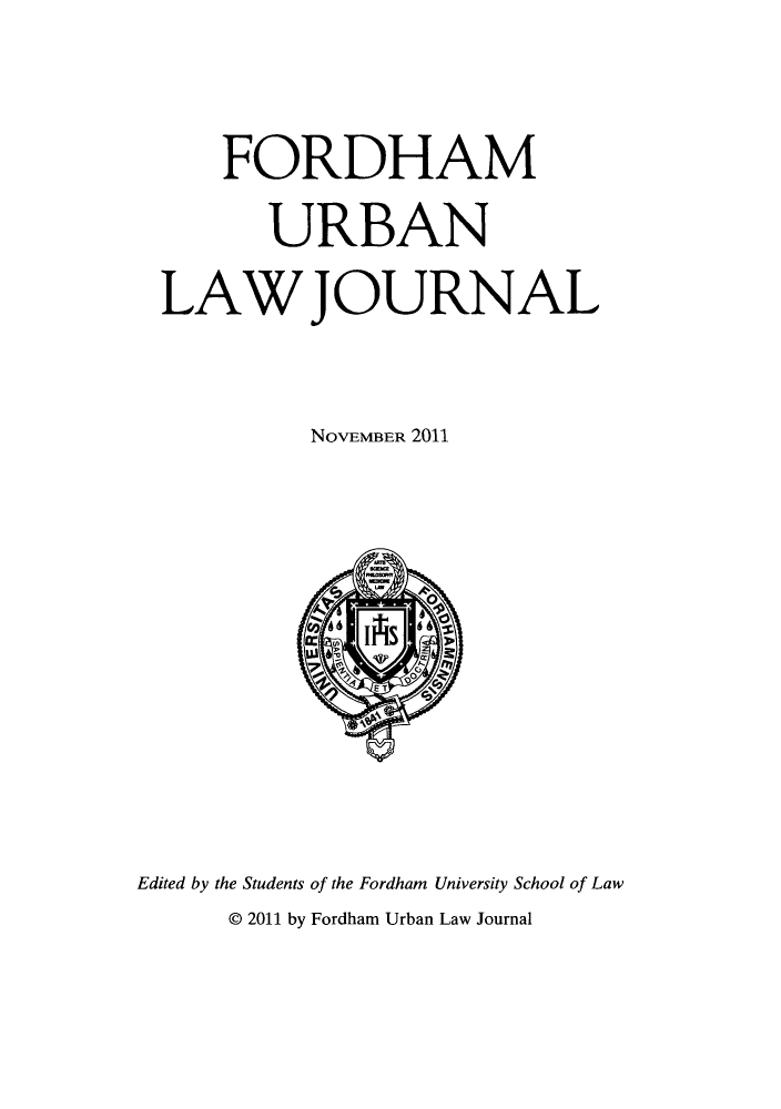 handle is hein.journals/frdurb39 and id is 1 raw text is: FORDHAM
