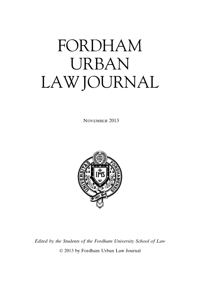 handle is hein.journals/frdurb41 and id is 1 raw text is: FORDHAM